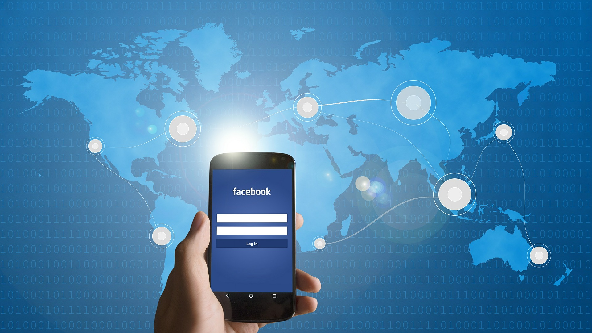 A mobile phone showcasing Facebook for the Facebook advertising agency in India for the website banner.
